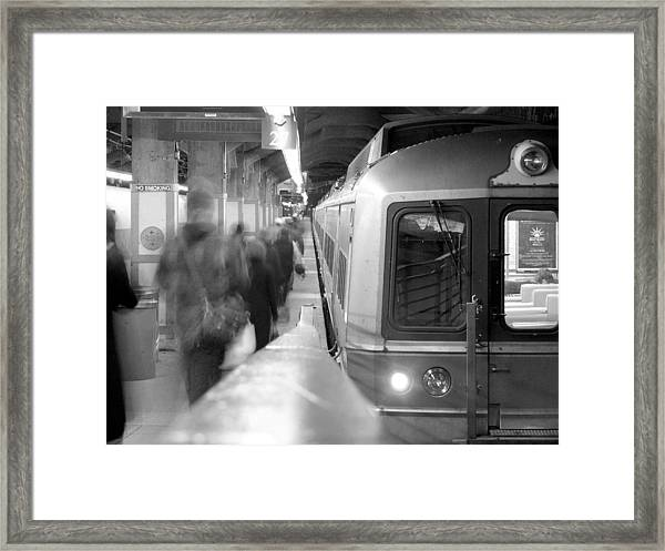 Metro North/ct Dot Commuter Train Framed Print
