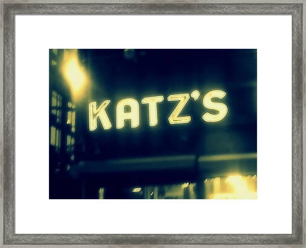 Nyc's Famous Katz's Deli Framed Print