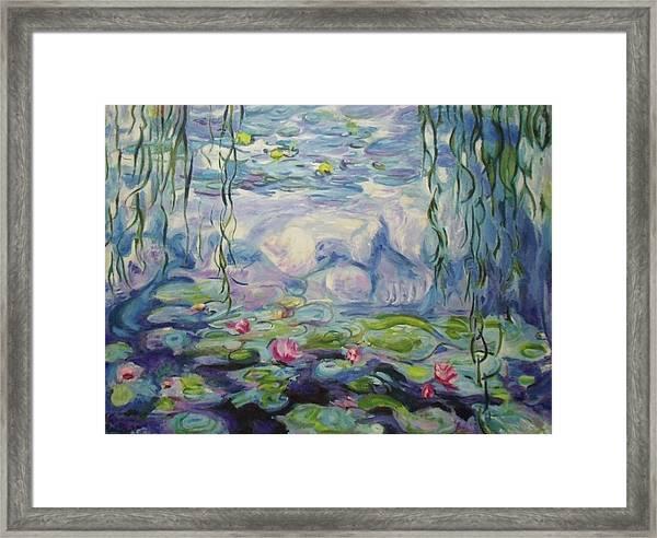 Nympheas Apres Monet Framed Print