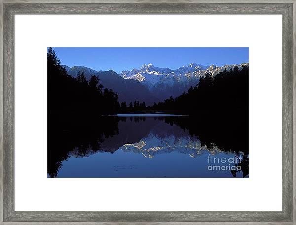 New Zealand Alps Framed Print