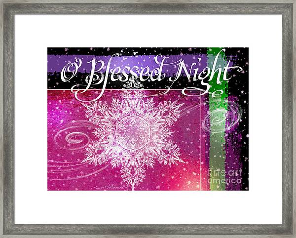 O Blessed Night Greeting Framed Print