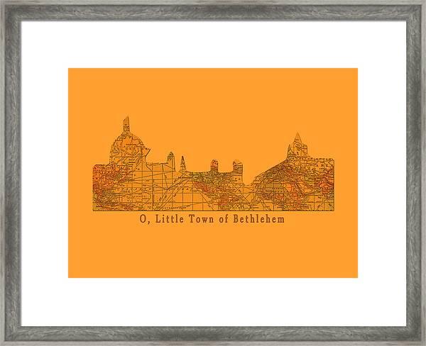 O Little Town Of Bethlehem Framed Print