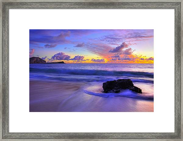 Framed Print featuring the photograph Oahu Sunrise by Dustin  LeFevre