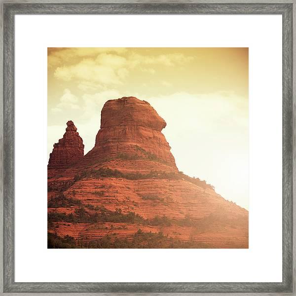Oak Creek And Red Rock - Arizona Framed Print