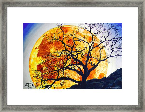 Oak Tree Moonrise Framed Print