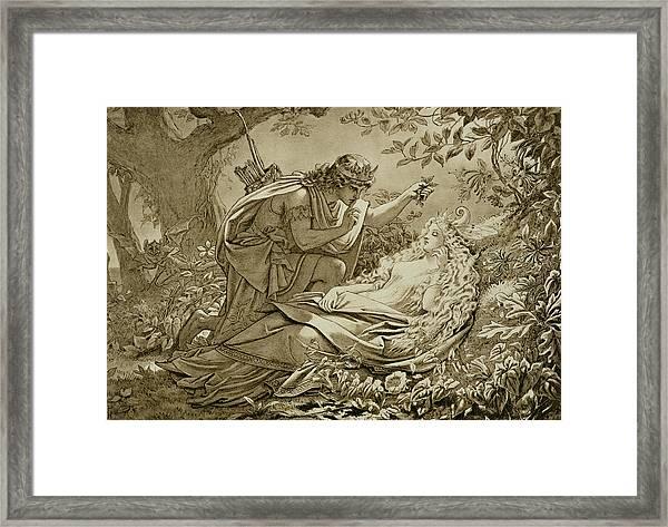 Oberon And Titania Framed Print