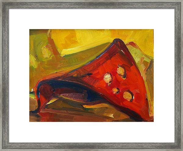Object In Red Framed Print by Magdalena Mirowicz