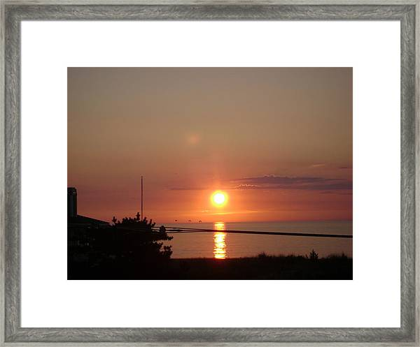 Obx Sunset Framed Print