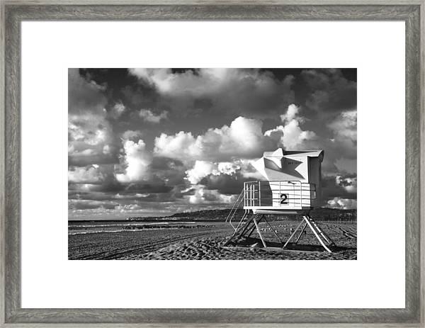 Ocean Beach Lifeguard Tower Framed Print