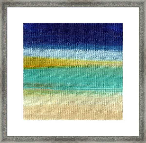 Ocean Blue 3- Art By Linda Woods Framed Print