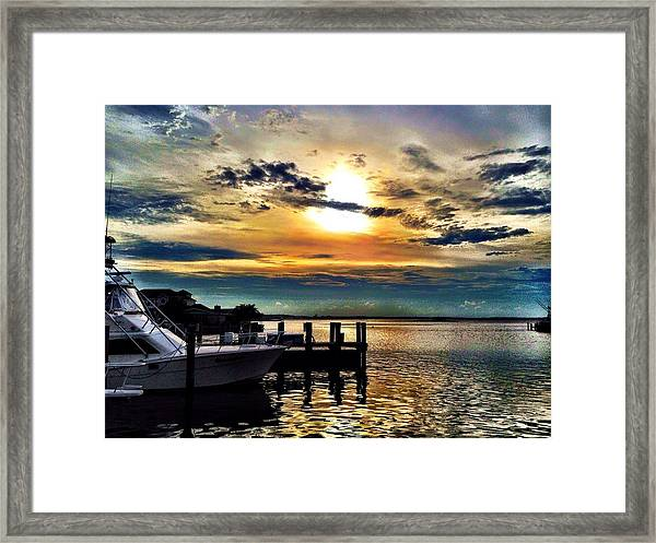 Ocean City Sunset Framed Print