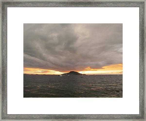 Ocean Cloud Sunrise Framed Print
