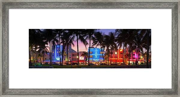 Ocean Drive, Miami, Florida Framed Print