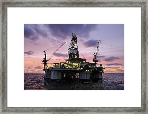 Ocean Endeavor At Sunrise Framed Print