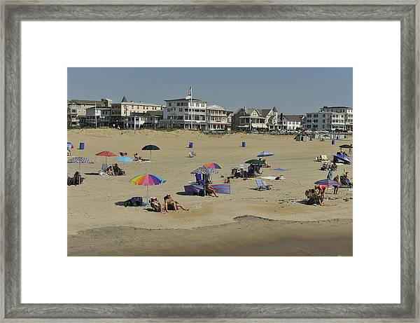 Ocean Grove Beach Framed Print