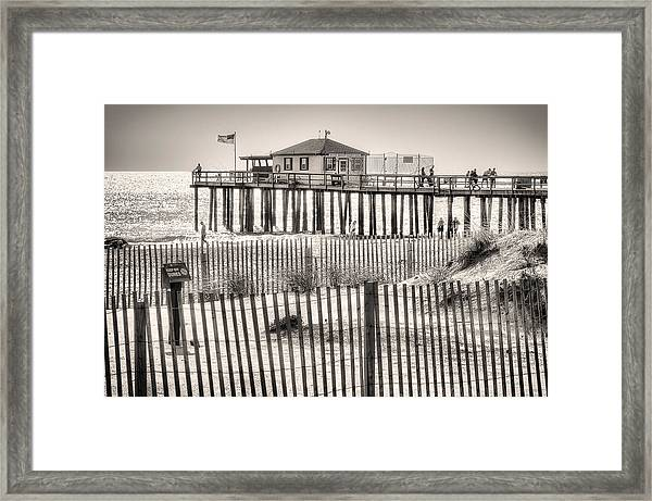 Framed Print featuring the photograph Ocean Grove Fishing Club by Steve Stanger