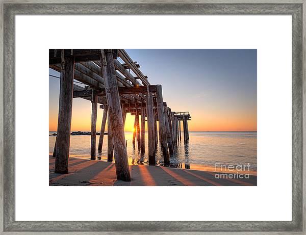 Ocean Grove Pier Sunrise Framed Print