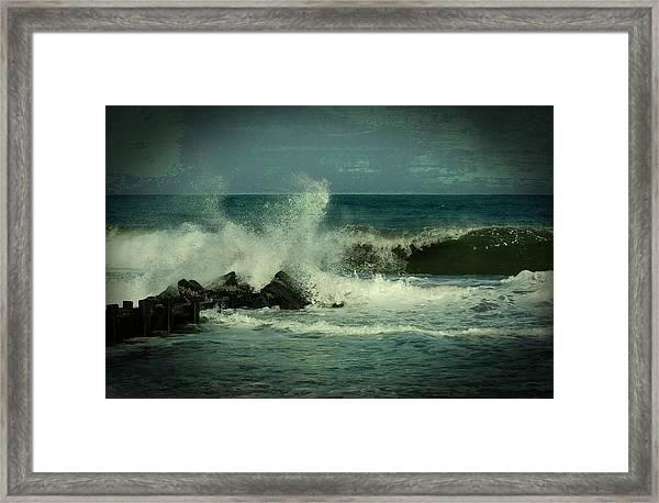 Ocean Impact - Jersey Shore Framed Print