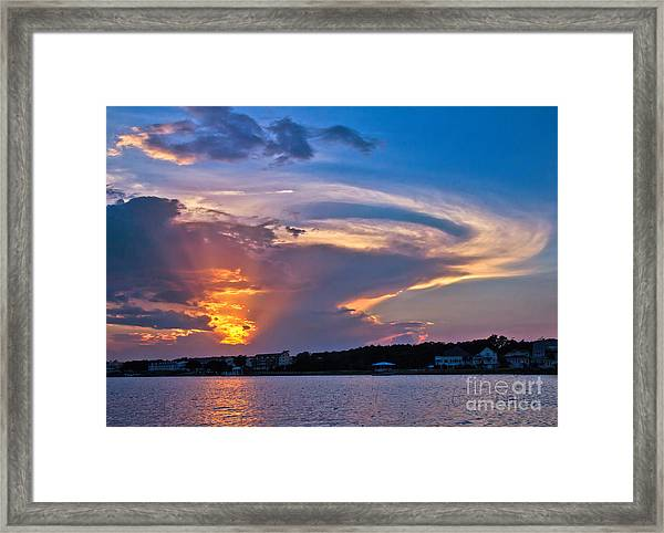 Ocean Isle Sunset Framed Print