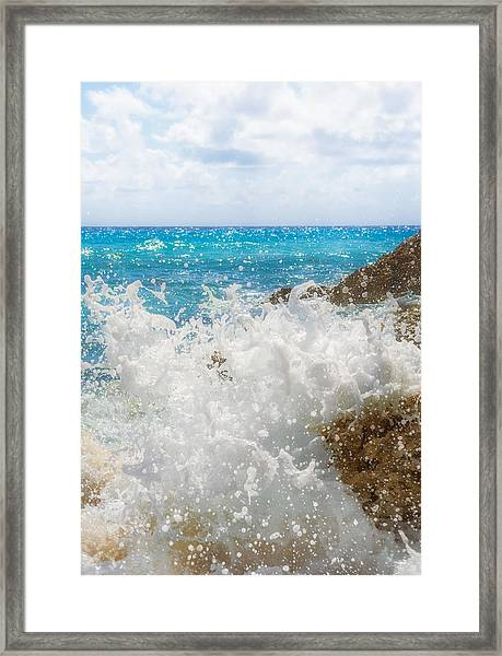 Framed Print featuring the photograph Ocean Spray by Garvin Hunter