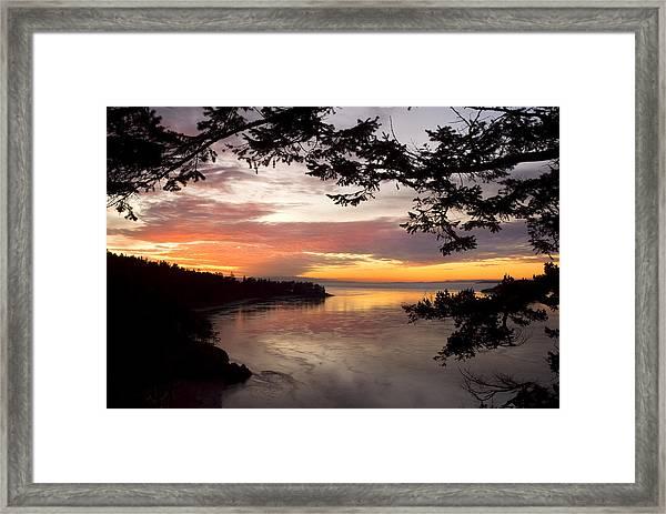 Ocean Sunset Deception Pass Framed Print