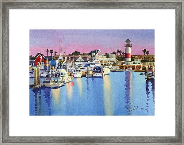 Oceanside Harbor At Dusk Framed Print