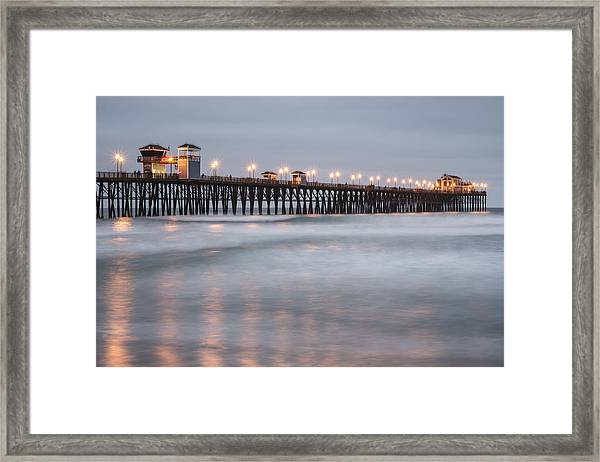 Oceanside Pier 1 Framed Print