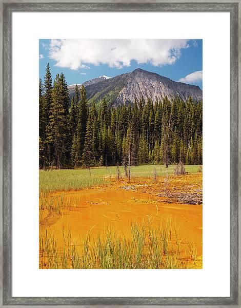Ochre Pigment Deposit Framed Print