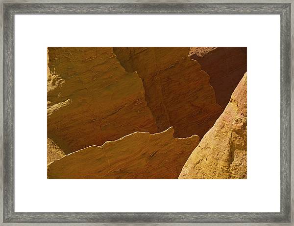 Ochre Quarry Framed Print