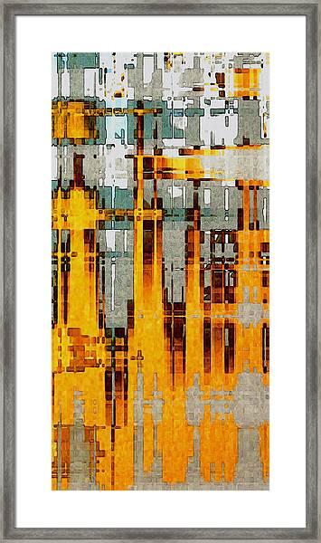 Ochre Urbanity Framed Print