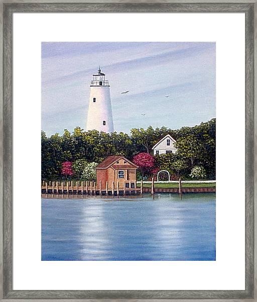 Ocracoke Island Light Framed Print