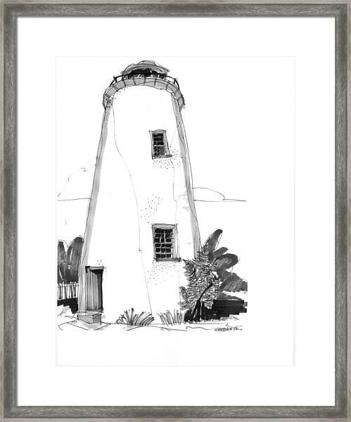 Ocracoke Light 1970s Framed Print