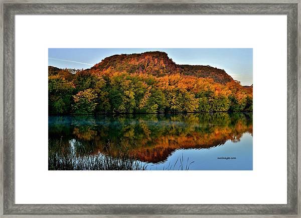October Bluffs Framed Print