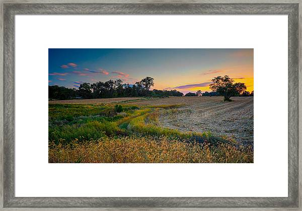 Framed Print featuring the photograph October Evening On The Farm by William Jobes