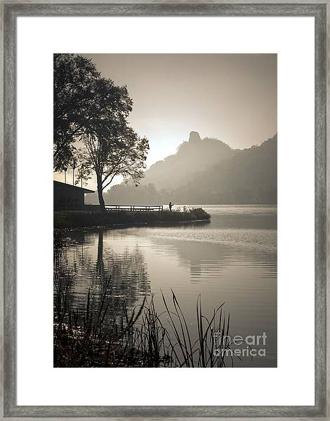 Framed Print featuring the photograph October Morning by Kari Yearous