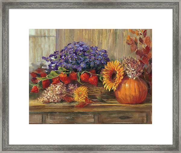 October Still Life Framed Print by Carol Rowan