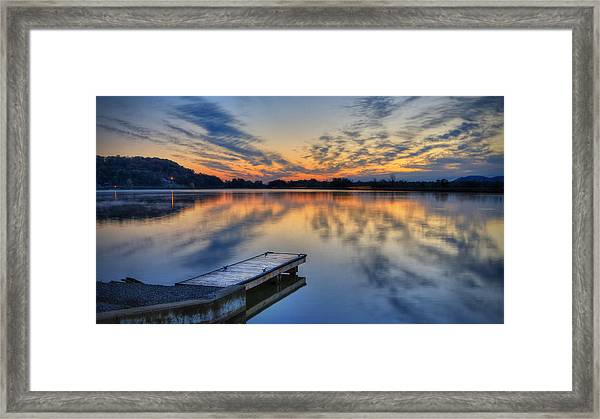 October Sunrise At Lake White Framed Print