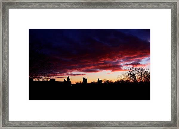 October's Last Sunset Framed Print