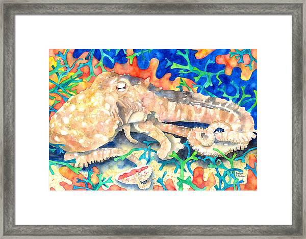 Octopus Delight Framed Print