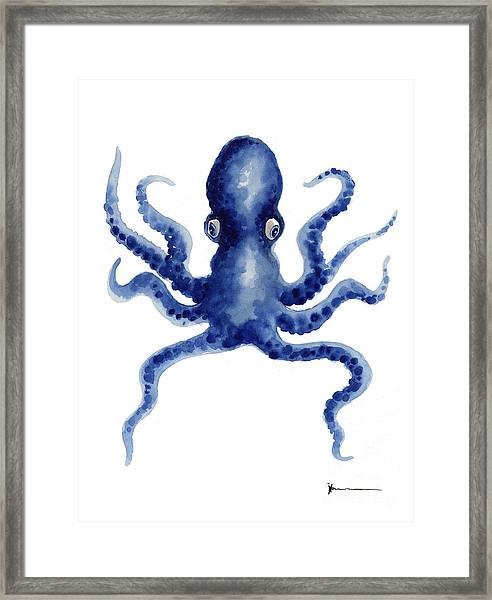 Octopus Watercolor Art Print Paniting Framed Print