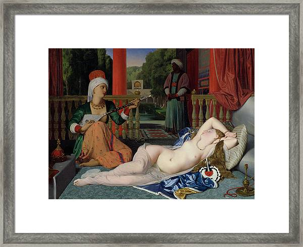 Odalisque With Slave Framed Print
