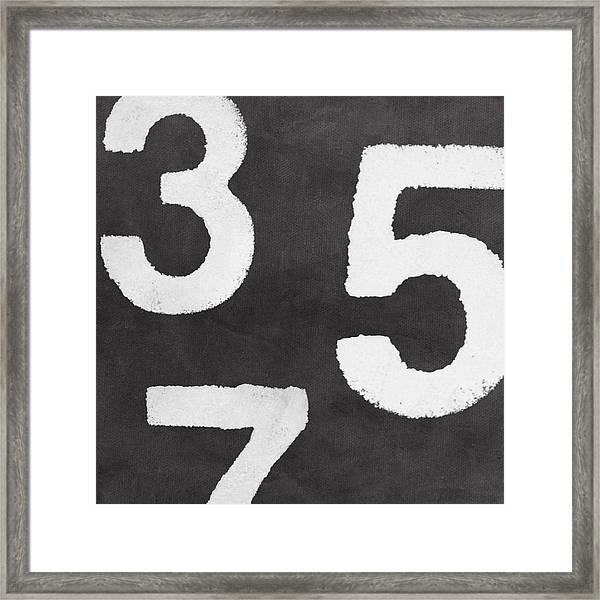 Odd Numbers Framed Print