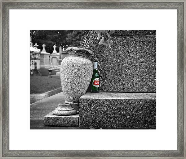 Ode To A Good Man Framed Print