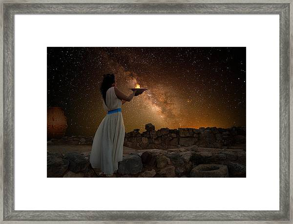 Ode To The Starry Sky Framed Print