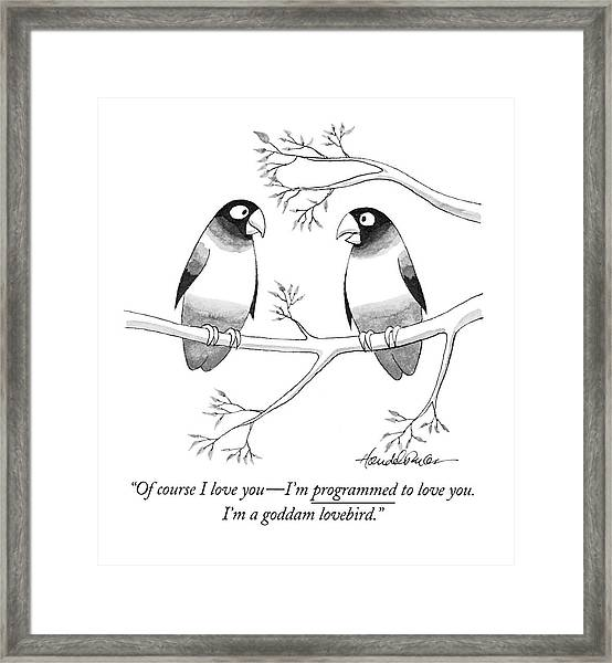 Of Course I Love You - I'm Programmed To Love Framed Print