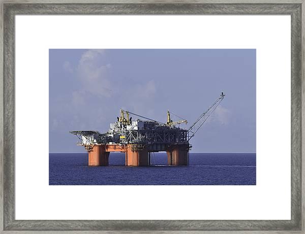 Offshore Production Platform Framed Print
