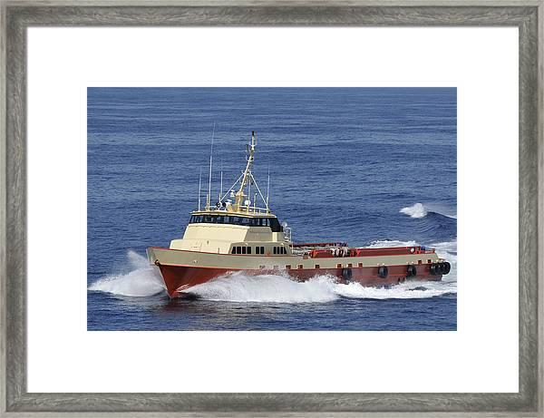 Offshore Supply Vessel Framed Print