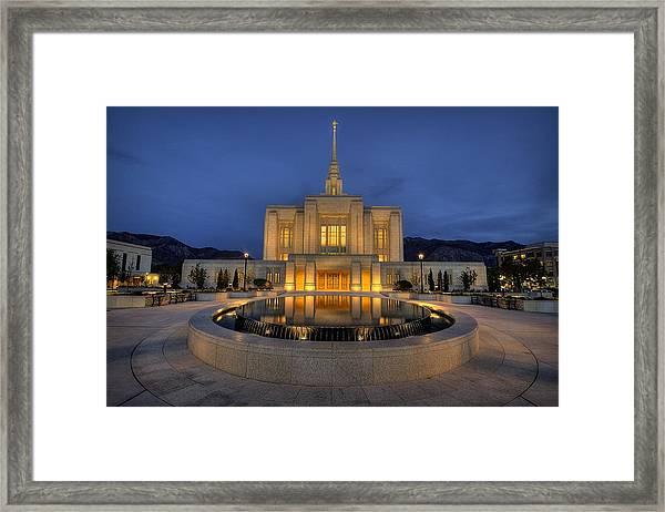 Ogden Temple Reflections Framed Print