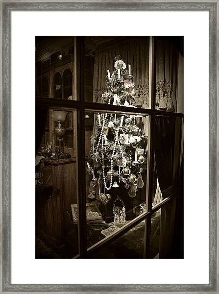 Oh Christmas Tree - Sepia Framed Print