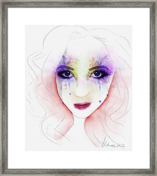 Oh Those Eyes Framed Print